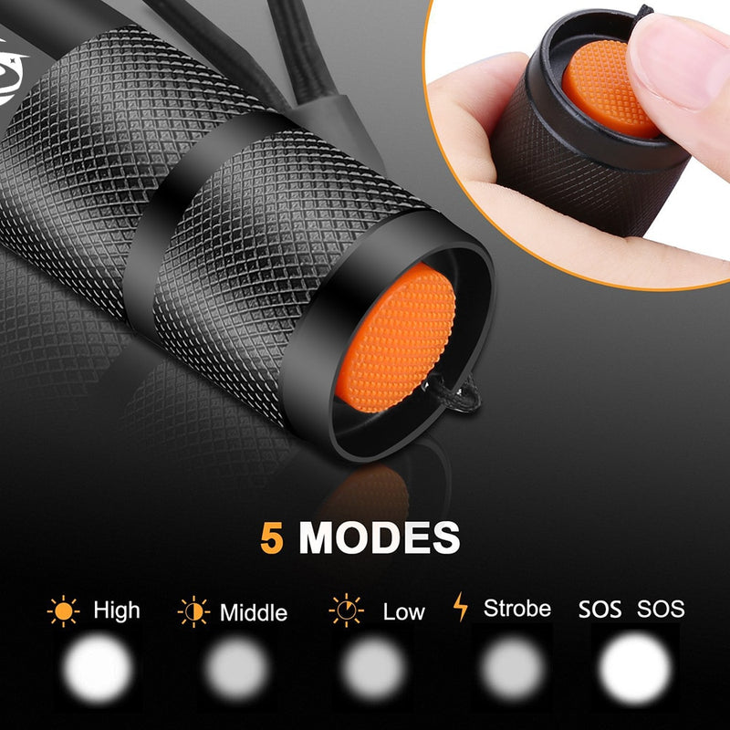 Led flashlight Ultra Bright torch T6/L2/V6 Camping light 5 switch Modes waterproof Zoomable Bicycle Light use 18650 battery|bright torch|ultra bright torchtorch 18650