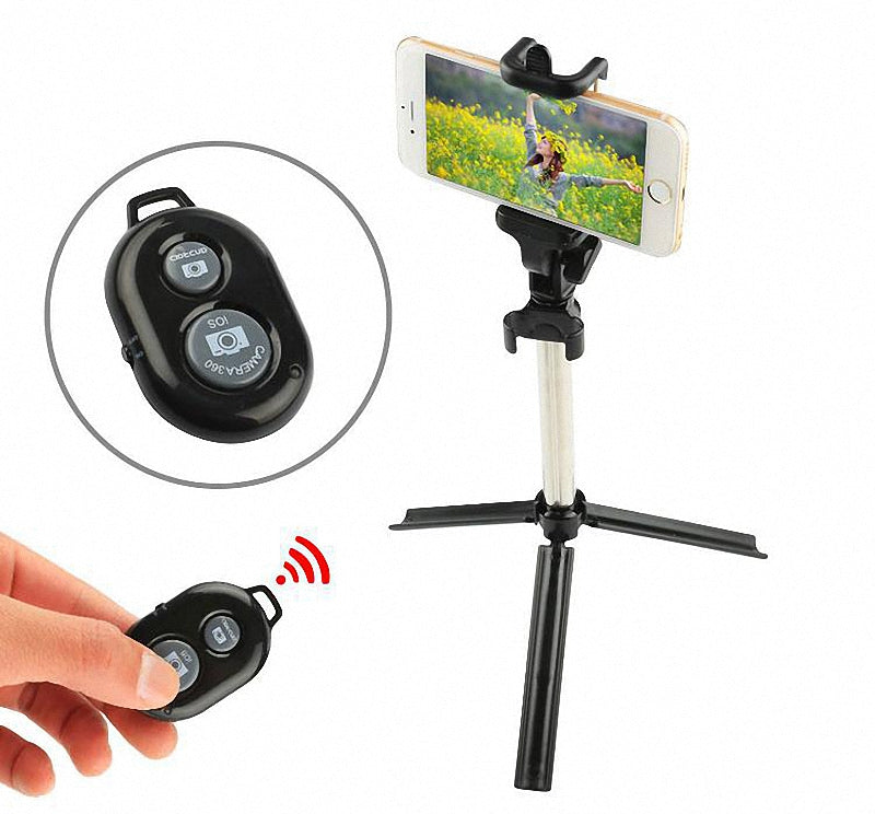 Selfie Stick Bluetooth With Button Selfie Phone Holder For Android iPhone 6s 7 8 X Samsung