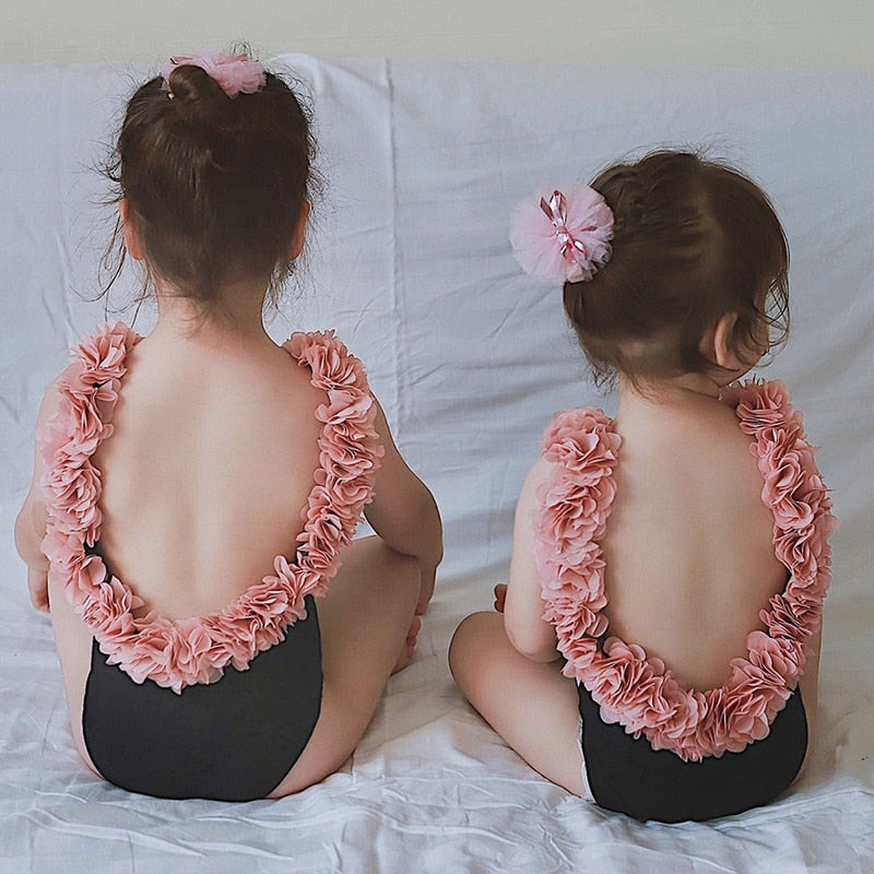 Mother Daughter Swimsuits Flower Mommy And Me Swimwear Bikini Family Look Mom And Daughter Bathing Suit Family Matching Clothes|Matching Family Outfits