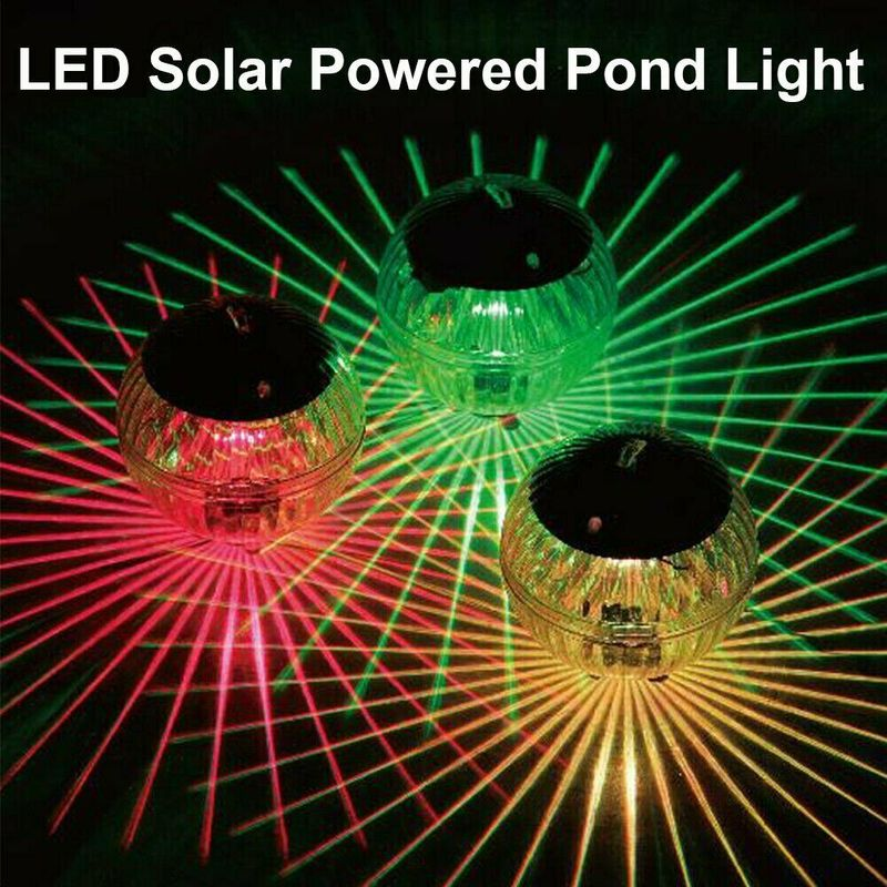 Multi color Waterproof Ball Shaped Solar Floating Lamp Swimming Pool Lake Garden Home Lawn Decoration Spa Party Led Used Lights|LED Underwater Lights
