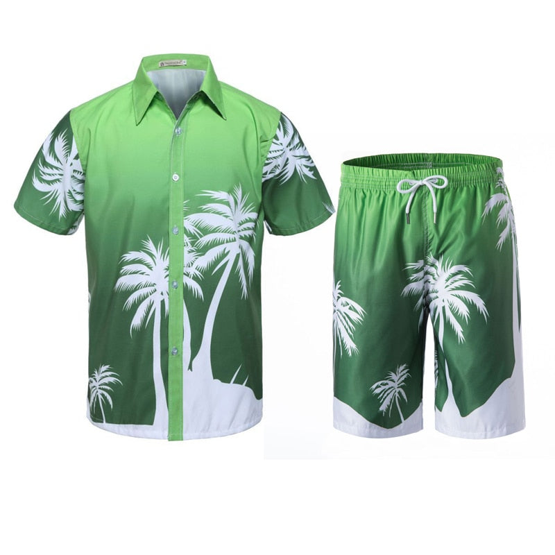 New Men's Set Casual Beach Attire