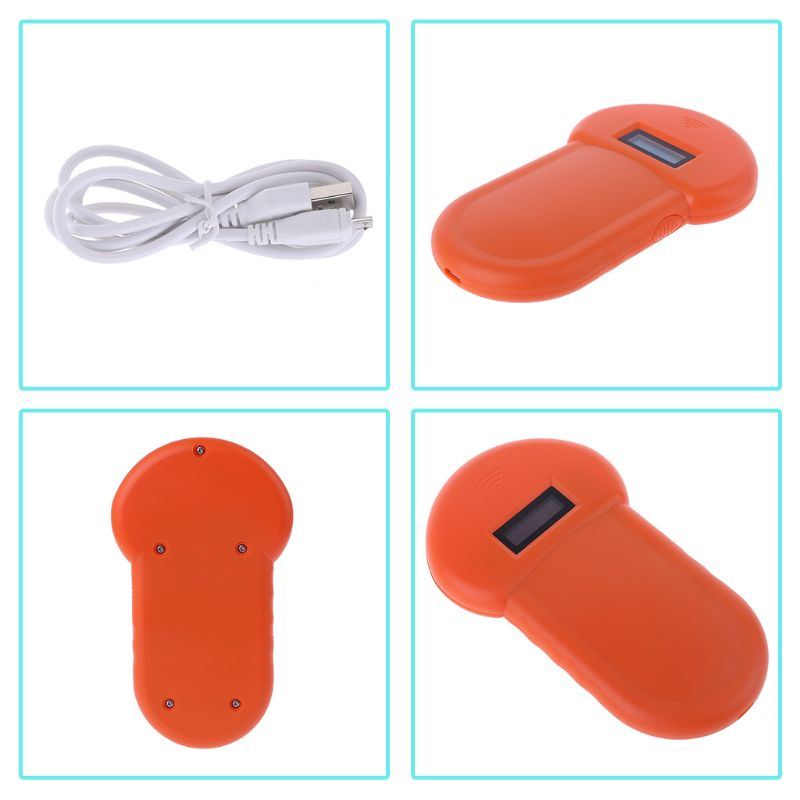 Pet ID Reader Animal Chip Digital Scanner USB Rechargeable Microchip Handheld Identification General Application for Cat Dog|IC/ID Card