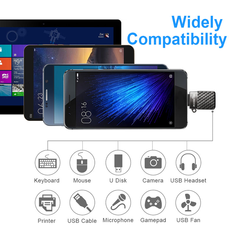 Micro to USB OTG Adapter Aluminum accessories Male Converter for Samsung Xiaomi LG Huawei Android Mobile Cell Phone