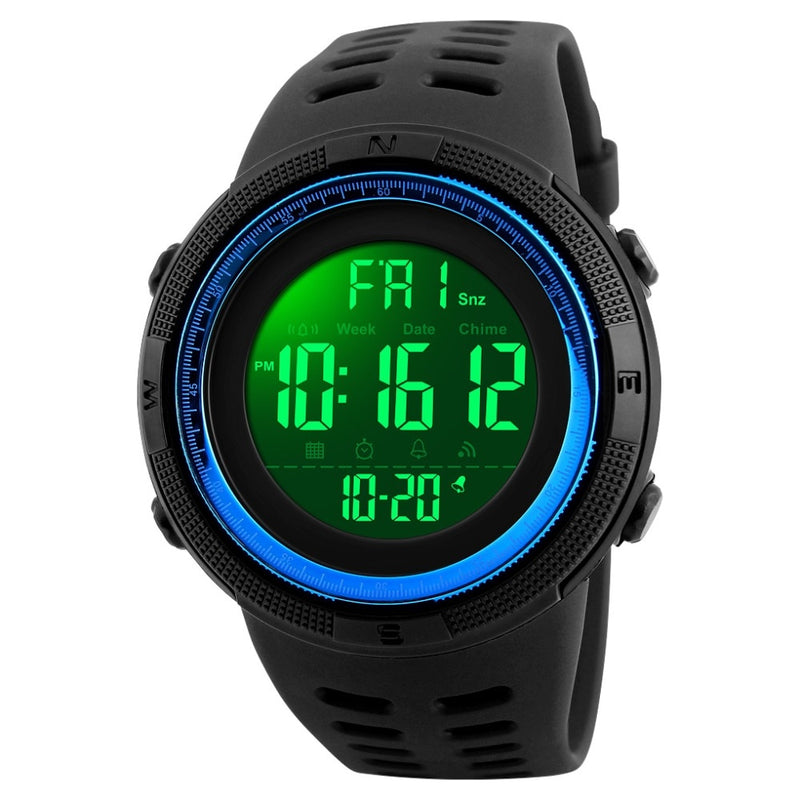 Men's Waterproof LED Digital Watch Man Military Clock