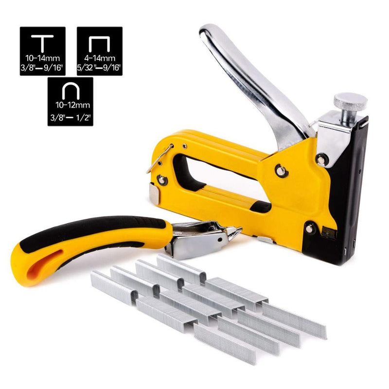 3 in 1 Staple Gun Heavy Duty with Staple Remover and 1500 Staples