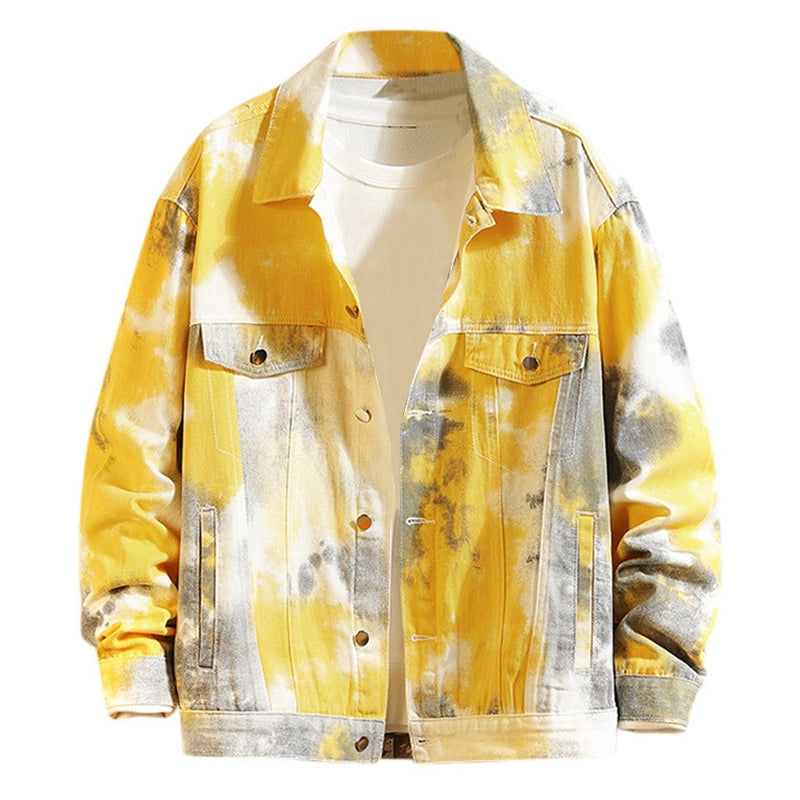 Printed Men's Jacket Fashion Tie Dye
