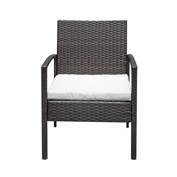 3pcs Outdoor Patio Set 1 Brown