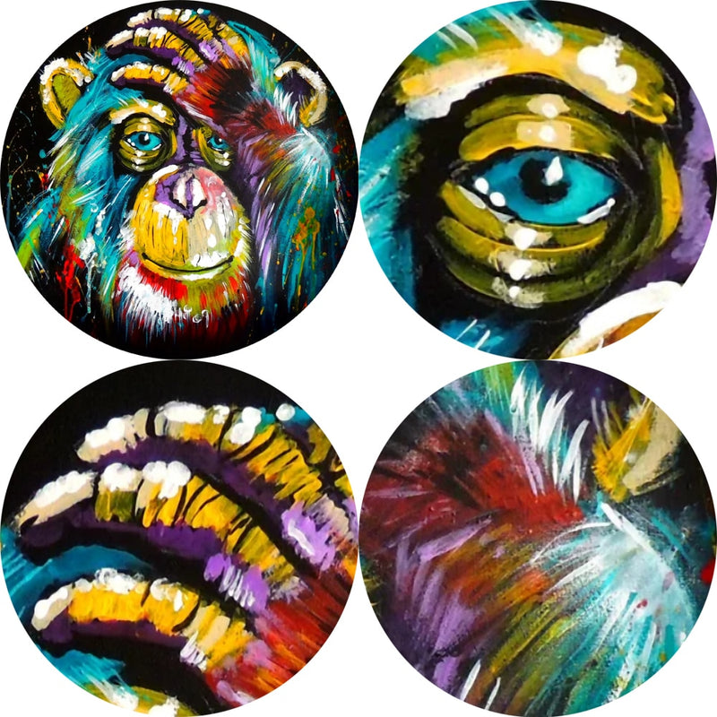 Thinking Monkey Wall Art Canvas Prints