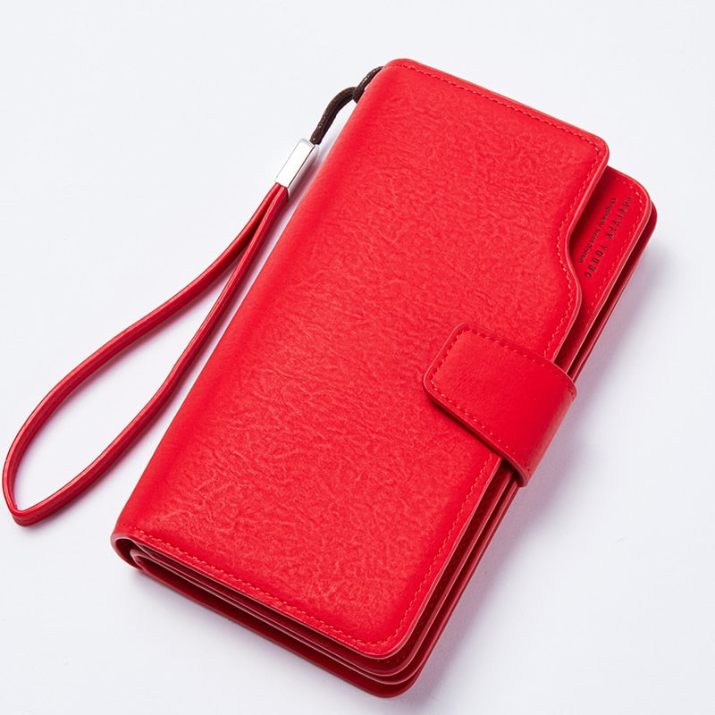 Women Wallet Female Purse Leather Wallet Long Coin Purse Card Holder Money Clutch Wristlet