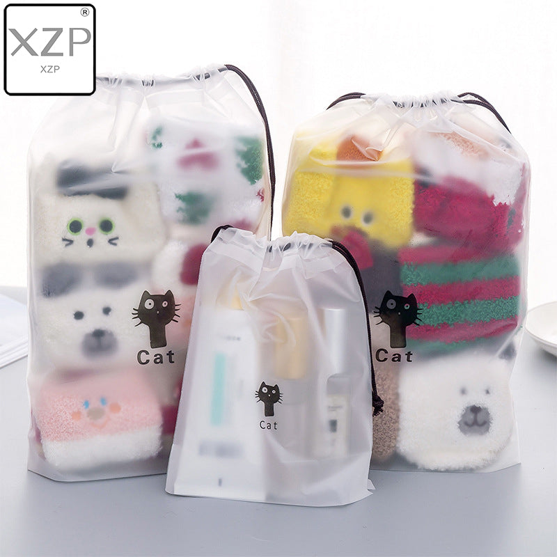 Cats Cosmetic Bag Travel Makeup String Make Up Bath Organizer Storage Pouch