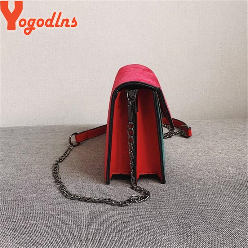 Yogodlns Bags Chain Strap Shoulder Bag Lady Small Flap