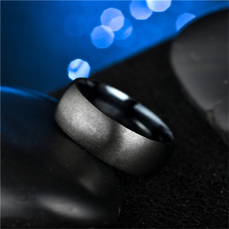 Men's Black Ring Matte Finished