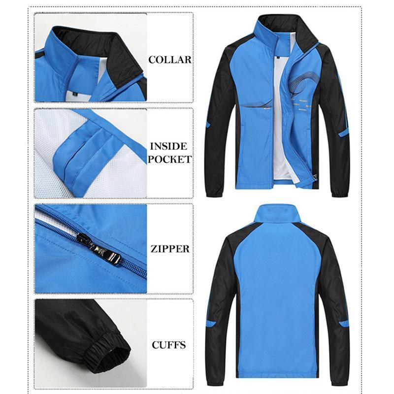 Eu Mens Set Spring Autumn Men Sportswear 2 Piece Set Sporting Suit Jacket+Pant Sweatsuit Men