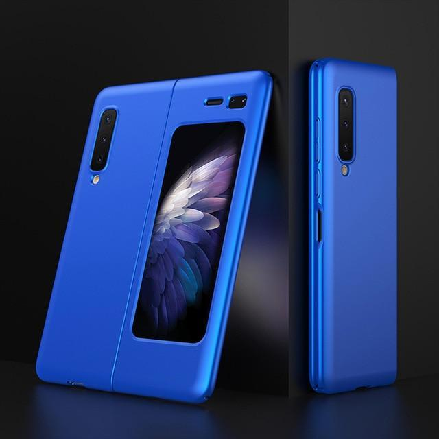 For Samsung Galaxy Fold Case 360 Full Protection Matte Hard Pc Back Protective Phone Cover For