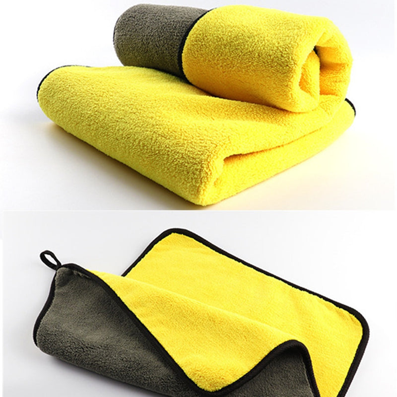 mling 30x30/60CM Car Wash Microfiber Towel Car Cleaning Drying Cloth Hemming Car Care Cloth Detailing Car Wash Towel For Toyota|Sponges, Cloths & Brushes