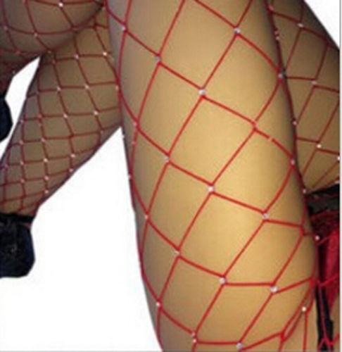 Usa Women Crystal Rhinestone Fishnet Elastic Stockings Fish Net Tights Pantyhose