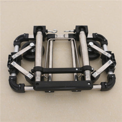 Full folding stainless steel luggage trolley suitcase