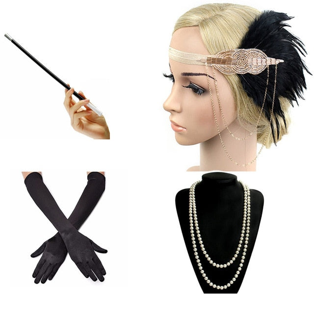 1920s Great Gatsby Party Costume Accessories Set