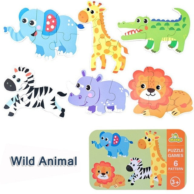 Wooden Puzzle Baby Early Educational Toys