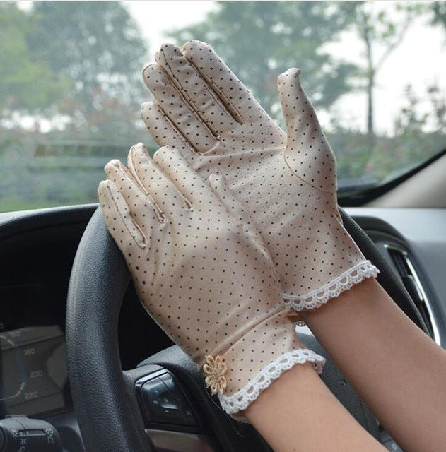 Lace Patchwork Gloves Anti skid