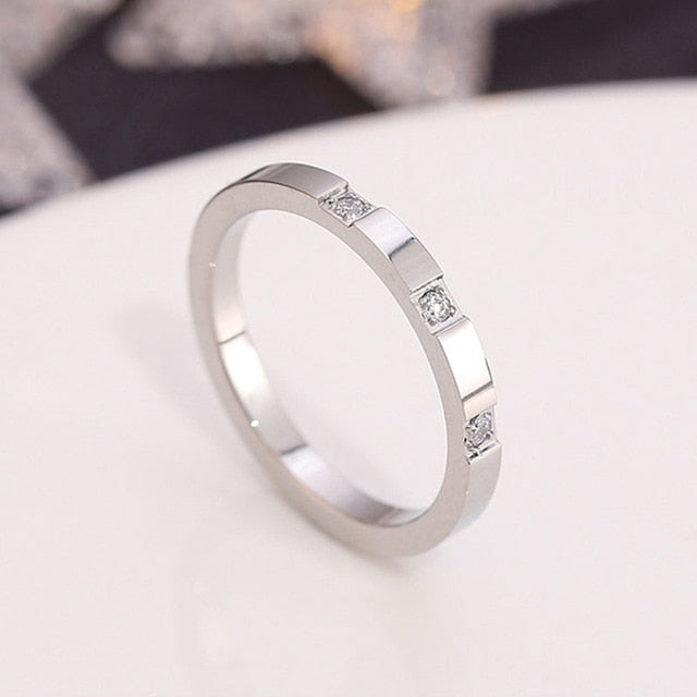 Thin Simple Fashion Rose Gold Color Finger Ring