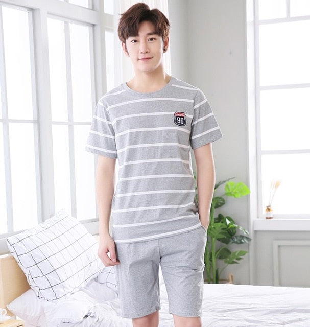 Pajamas Set Sleepwear Men's