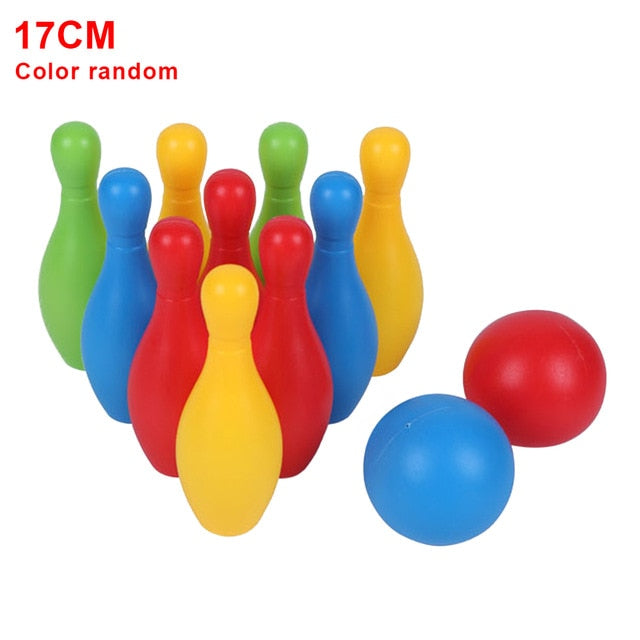 Toddler Smooth Kindergarten Parent Child Games Indoor Outdoor Early Teaching Colorful Non Toxic Home Funny Bowling Toy Set|Bowlings