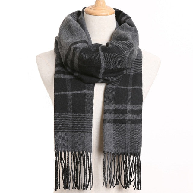 [VIANOSI] 2019 Luxury Design Men Scarf Foulard Plaid Scarves Poncho Casual Winter Scarfs Male Bufandas Hombre|Men's Scarves