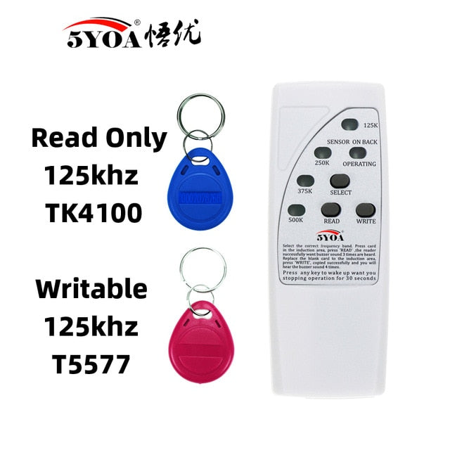 Handheld Rfid Card Reader Writer 125KHz