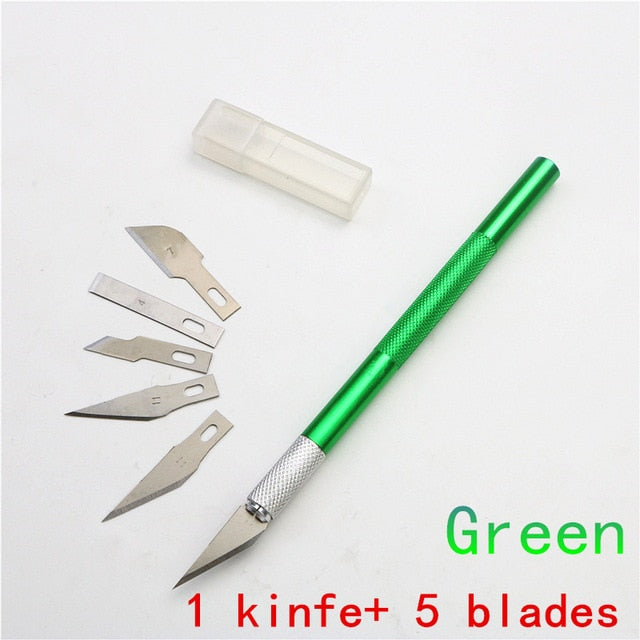 Carving knife or 5PC Blades Wood Carving Tools Fruit Craft Sculpture Engraving utility Knife DIY Cutting stationery Tool|utility knife|stationery knifeknife stationery