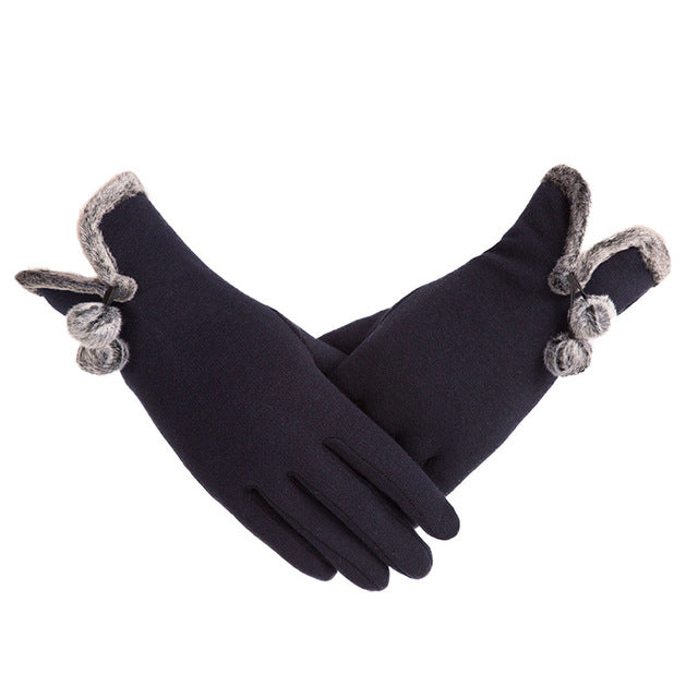 Warm Lace Gloves Women