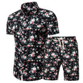 Pattern Tracksuit T Shirts +Shorts Two Piece Sets