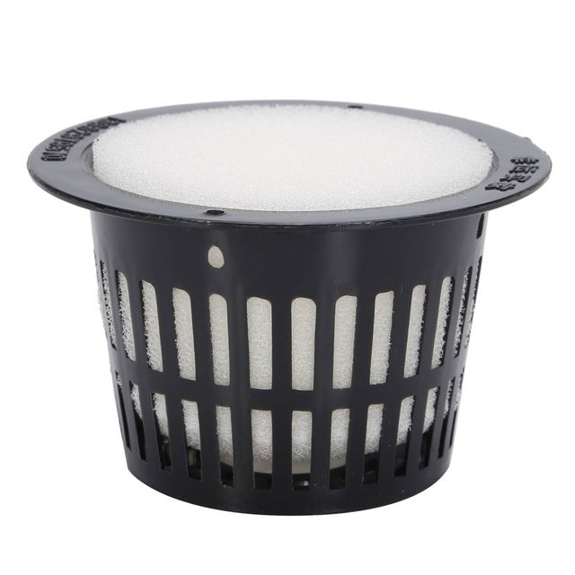 Mesh Pot Net Cup Basket 10Pcs Garden Plant Grow Vegetable Cloning Foam Insert Seed Germinate
