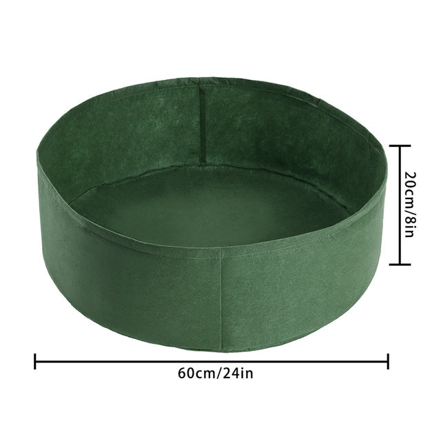 50 Gallon Fabric Raised Garden Bed Round Planting Container Grow Bags Breathable Felt Fabric Planter