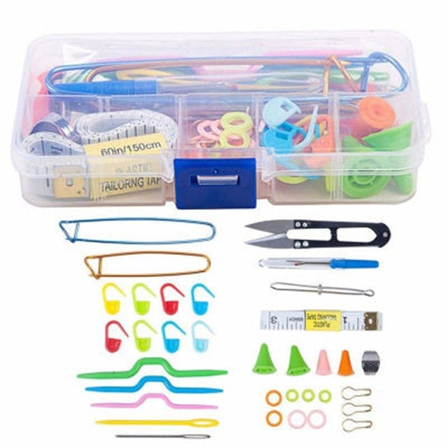 56 pcs Crochet Hooks Set With Case