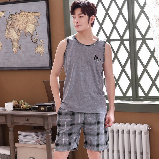 Pajamas Set Summer Thin