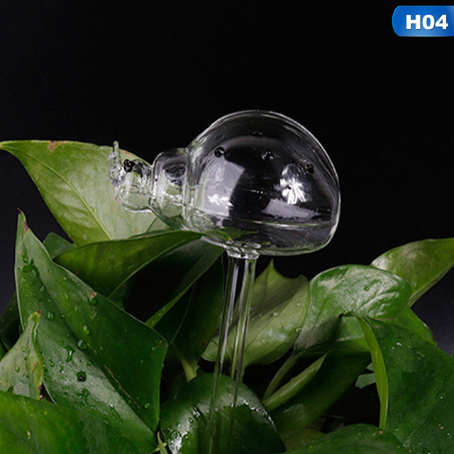 Water Feeder Automatic Self Watering Devices Clear Glass Water Feeder Garden Plants Flowers