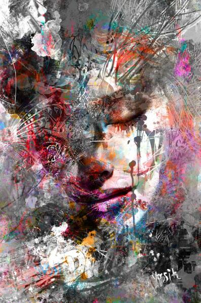 Abstract Girl Wall Paintings Print On Canvas Wall Art