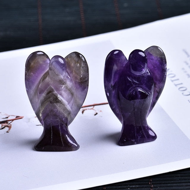 Decoration guardian angel healing gem