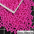 100pcs/lot 10mm Mixed Color Bayberry ABS Imitation Pearl Beads