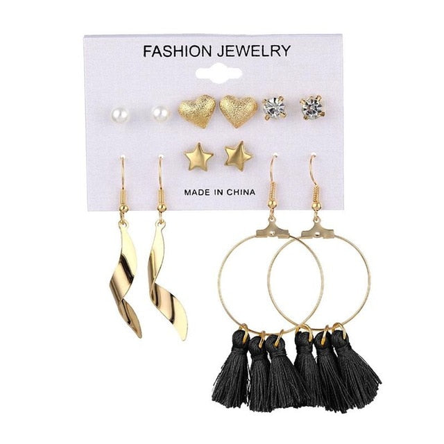 Earrings Sets Bohemian Fashion Jewelry