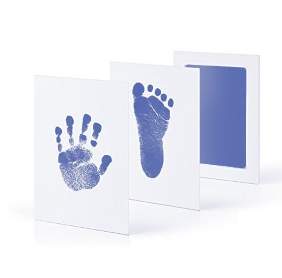 Safe Non toxic Baby Footprints Handprint No Touch Skin Inkless Ink Pads Kits for 0 6 months Newborn Pet Dog Paw Prints Souvenir|Hand & Footprint Makers