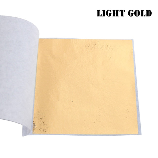 Imitation Gold Leaf Sheets Foil Paper 10pcs 8X8.5cm
