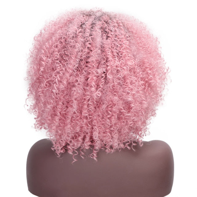 Short Synthetic Wigs Afro Kinky Curly Wig for Women