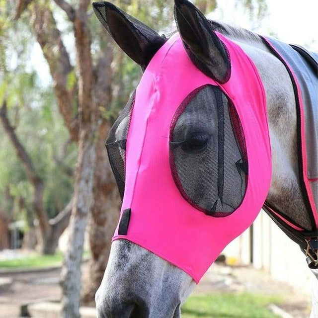 Anti fly Anti Mosquito Horse Mask Adjustable Mesh