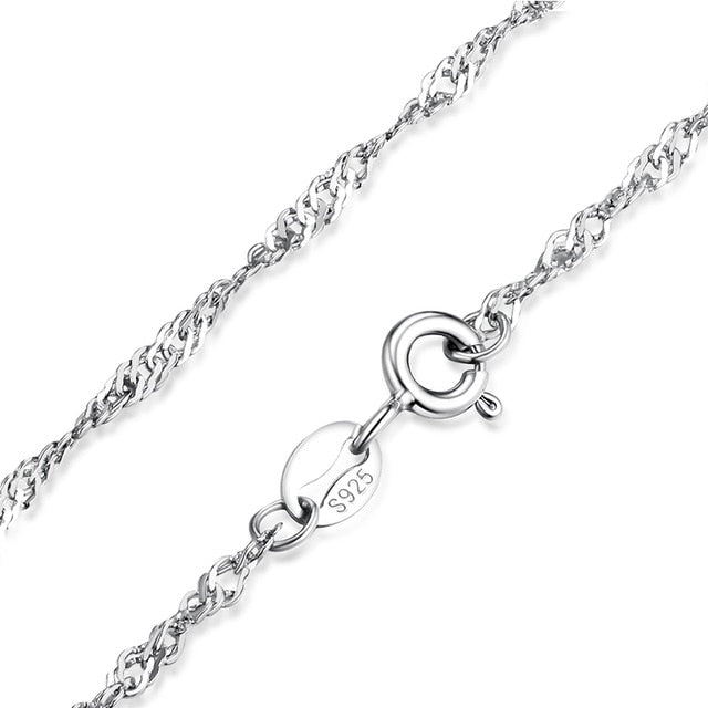JewelryPalace 100% Genuine 925 Sterling Silver Necklace Ingot Twisted Trace Belcher Snake Bar Singapore Box Chain Necklace Women|Chain Necklaces