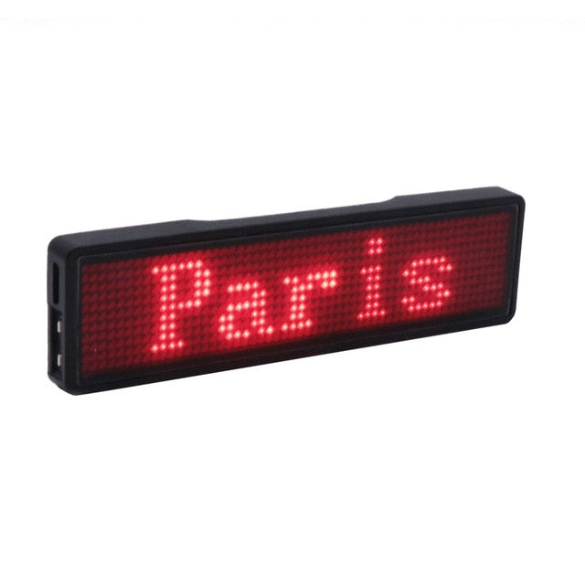 Bluetooth digital LED badge DIY programmable scrolling message mini LED display party event clear 11*55 pixels LED name sign|Advertising Lights