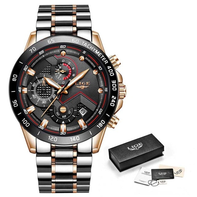 Mens Watches with Stainless Steel Top