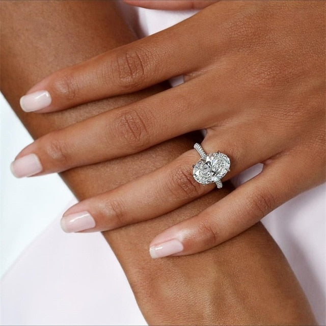 Classic Ring 6 White Cubic Zircon