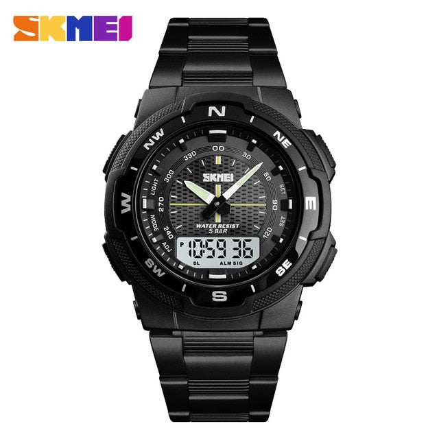 Sport Watch Stainless Steel Strap Mens